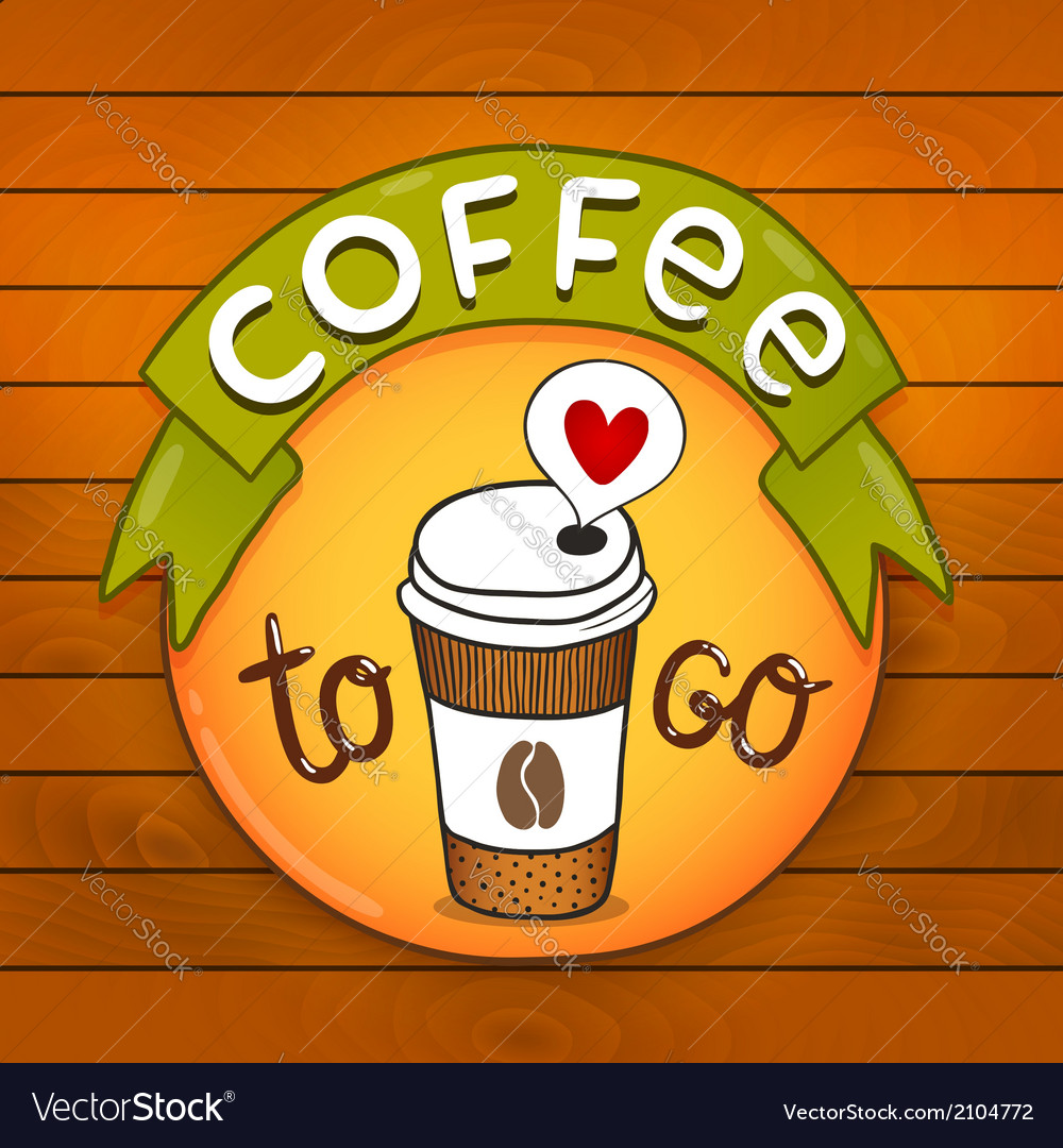Cartoon coffee badge coffee vector | Price: 1 Credit (USD $1)