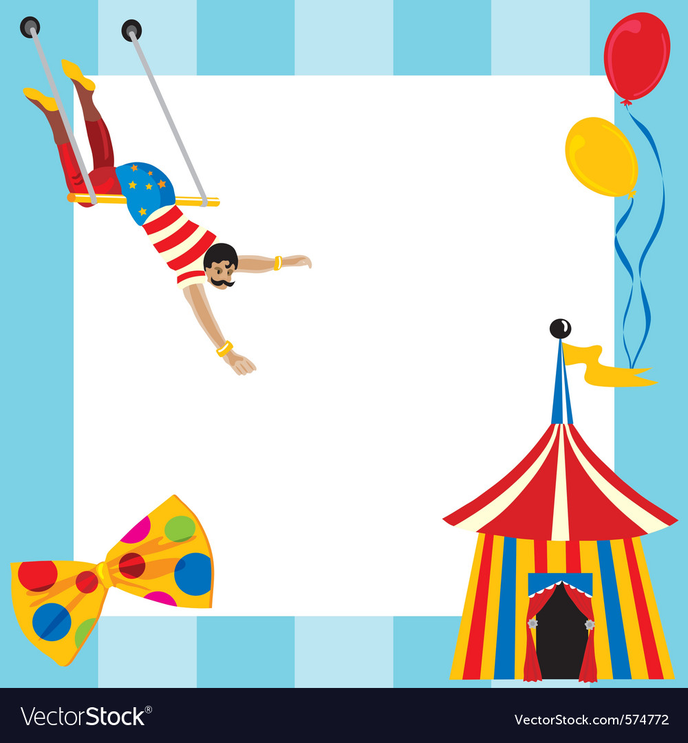 Circus party invitation vector | Price: 1 Credit (USD $1)