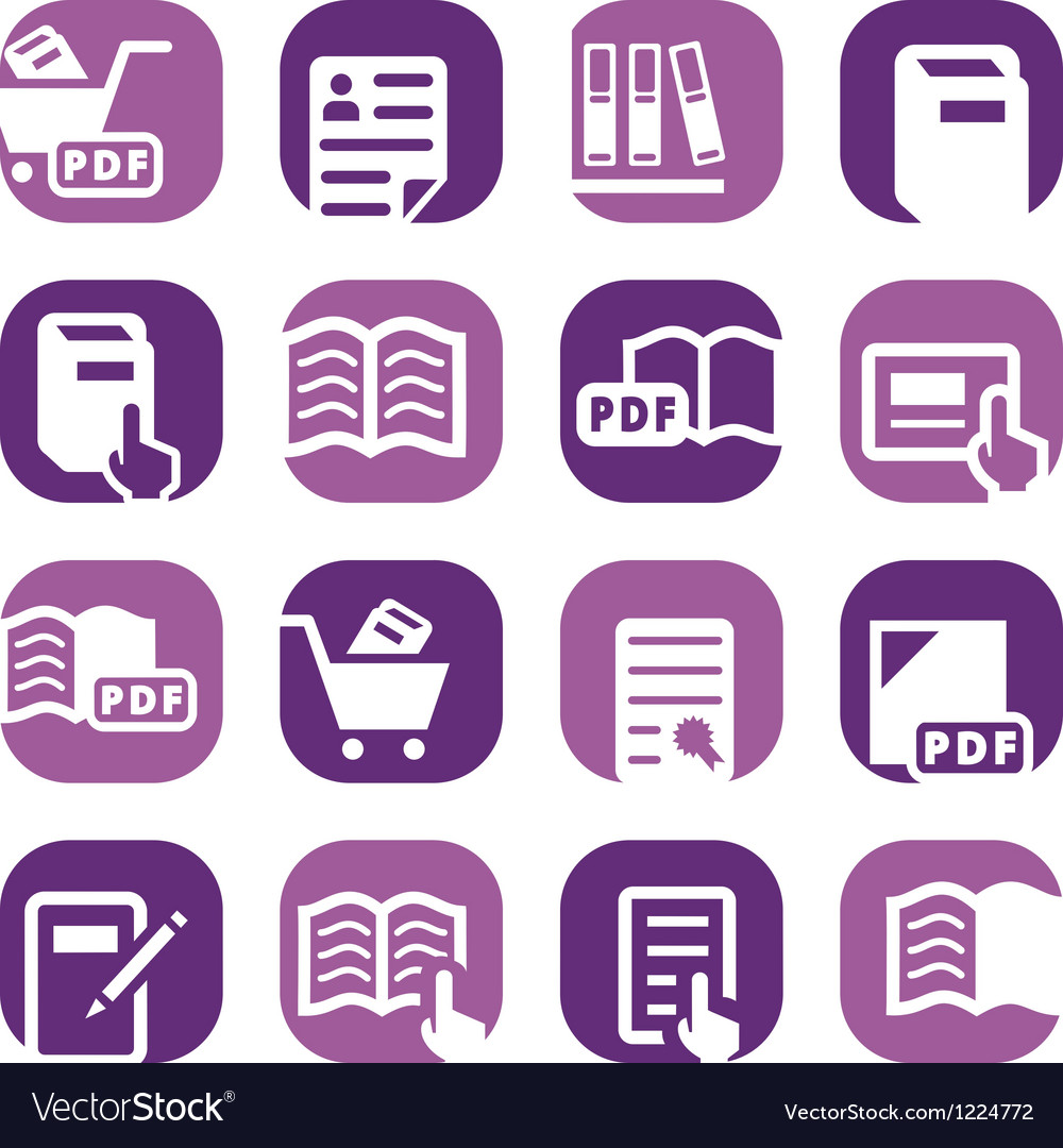 Color books icons set vector | Price: 1 Credit (USD $1)