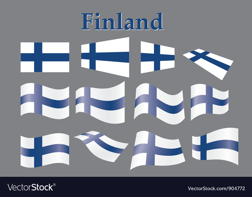 Flag of finland vector | Price: 1 Credit (USD $1)
