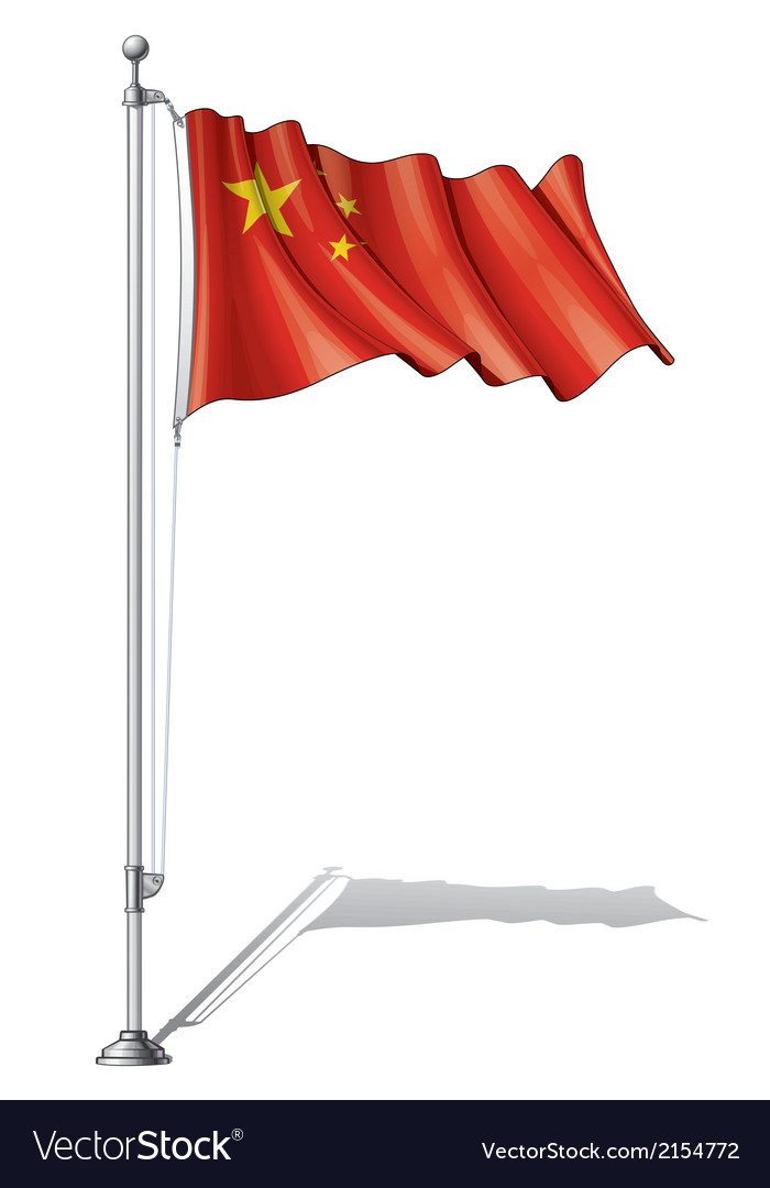 Flag pole china vector | Price: 1 Credit (USD $1)