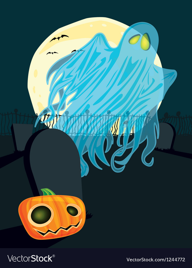 Halloween ghost vector | Price: 3 Credit (USD $3)