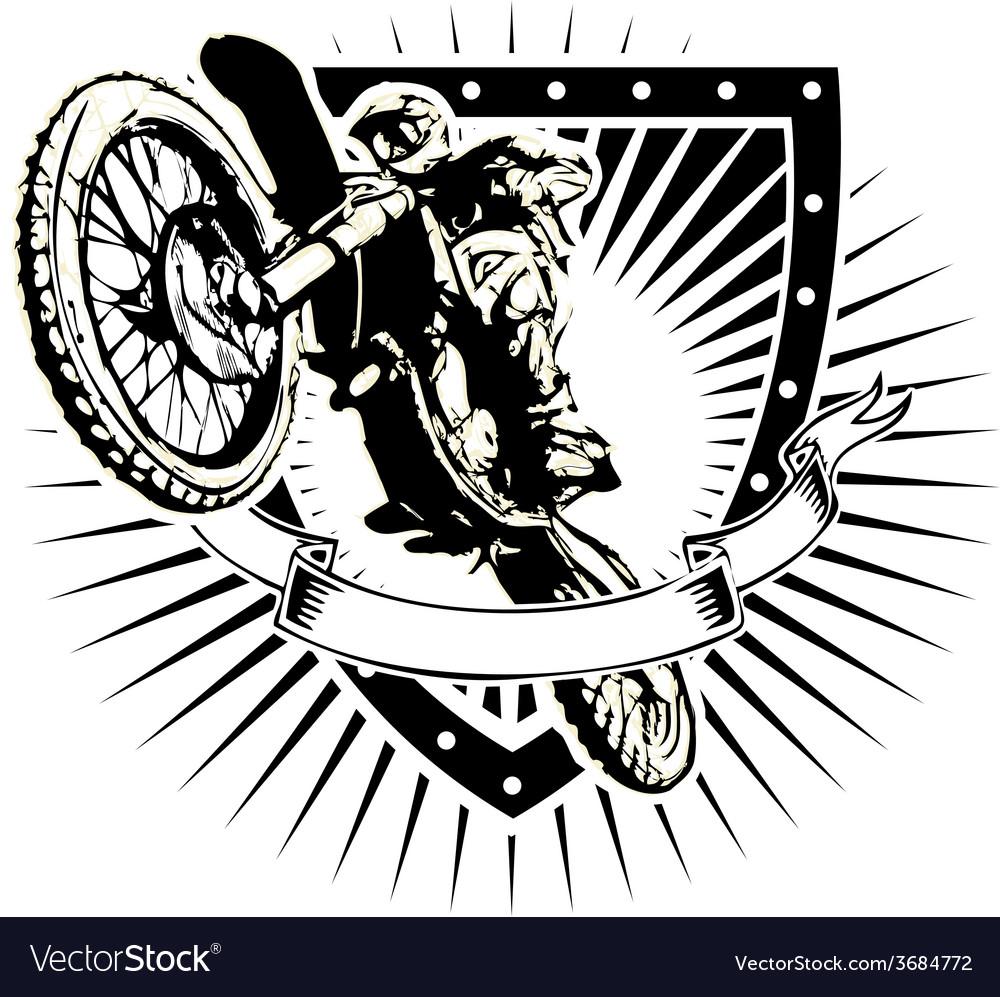 Motorcross shield vector | Price: 3 Credit (USD $3)