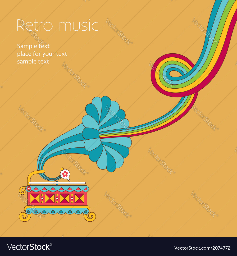 Music yellow vector | Price: 1 Credit (USD $1)