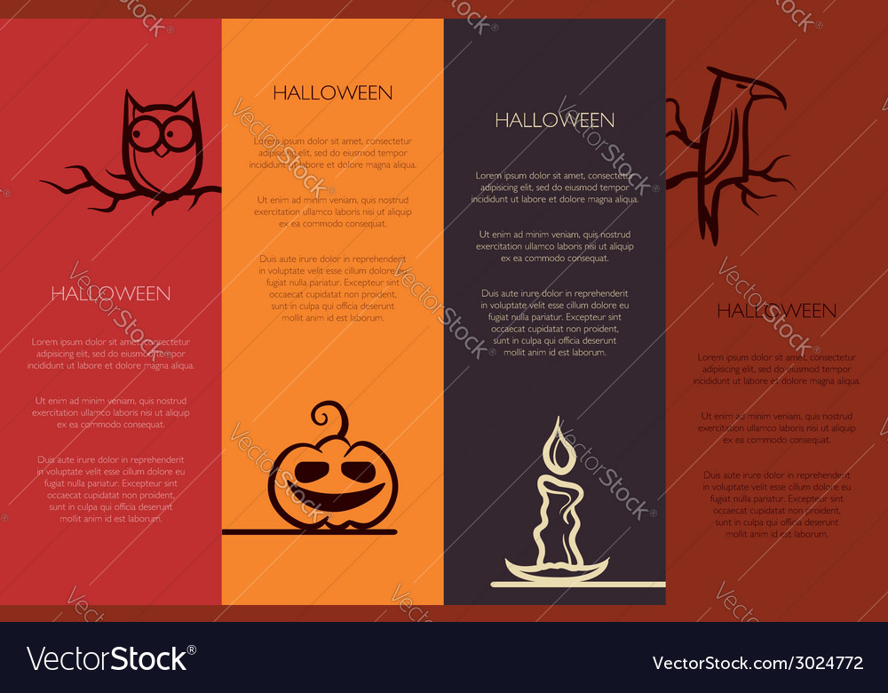 Retro graphical templates with halloween element vector | Price: 1 Credit (USD $1)