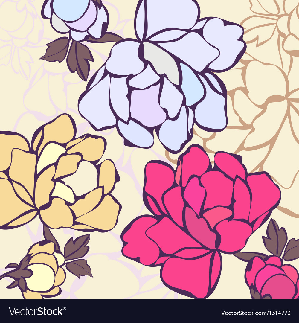 A background in flowers vector | Price: 1 Credit (USD $1)