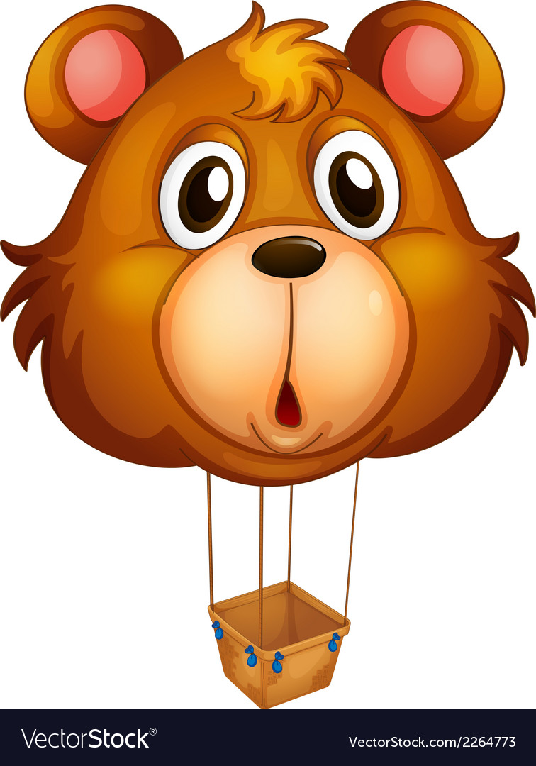 A brown bear balloon vector | Price: 1 Credit (USD $1)