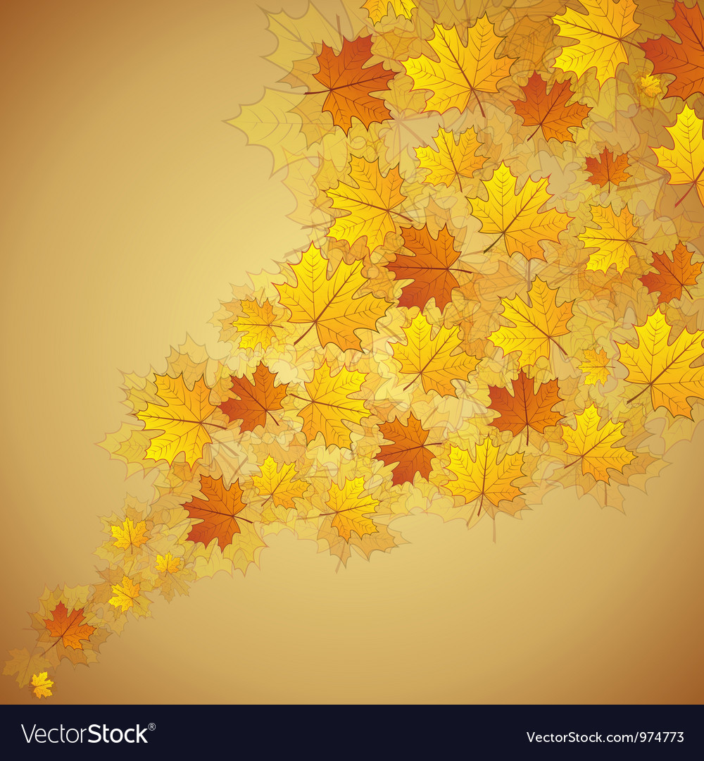 Autumn maple leaves stream vector | Price: 3 Credit (USD $3)