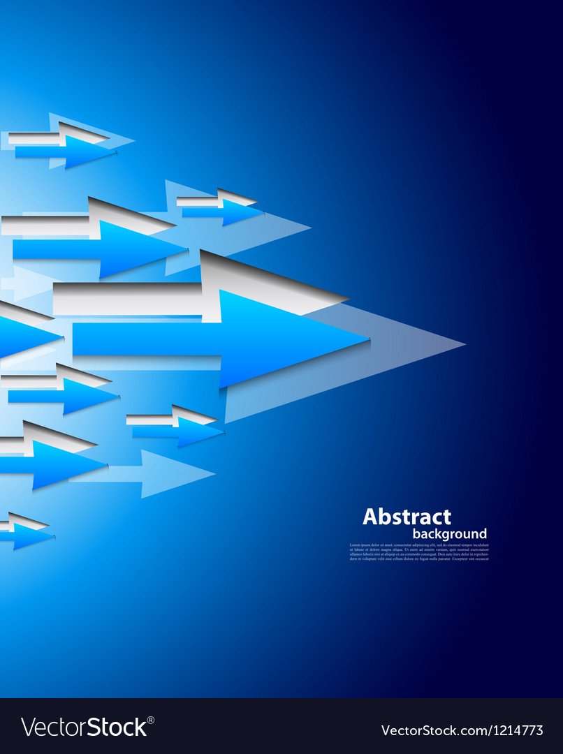 Background with blue arrows vector | Price: 1 Credit (USD $1)