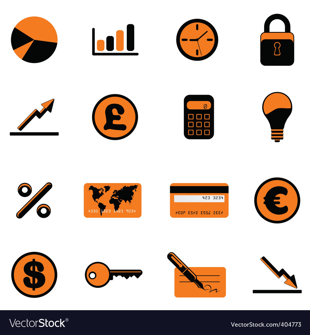 Business symbols vector | Price: 1 Credit (USD $1)
