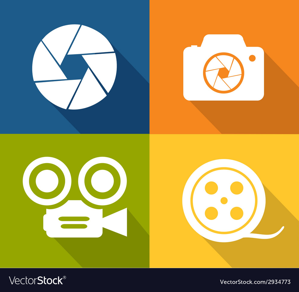 Camera and shutter icons vector | Price: 1 Credit (USD $1)