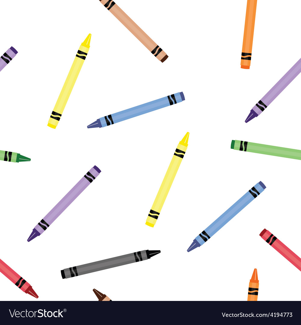 Colorful crayons seamless pattern vector | Price: 1 Credit (USD $1)