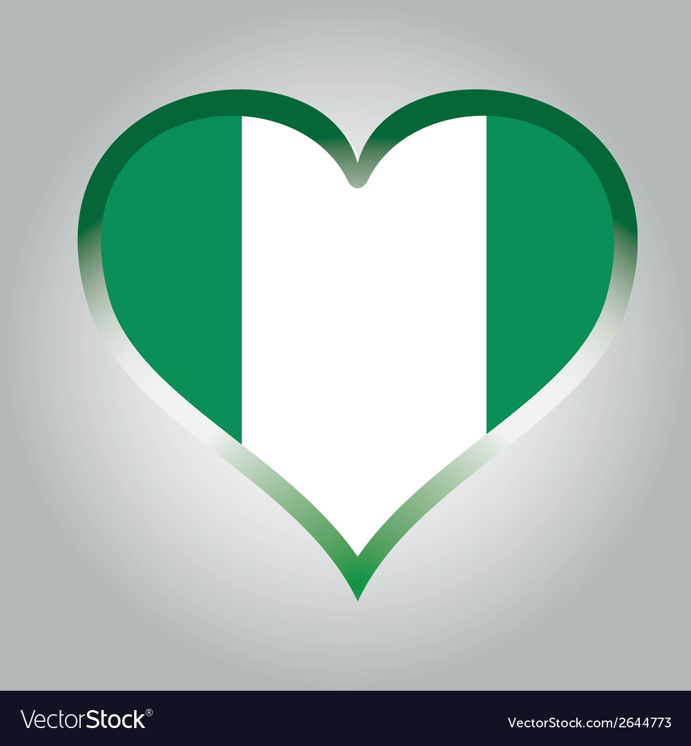 Flag from nigeria with its respective colors vector | Price: 1 Credit (USD $1)