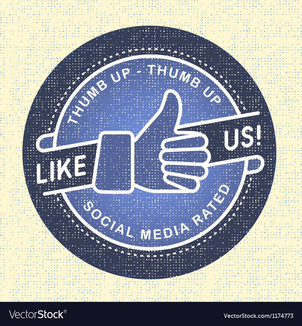 Like us icon icon social networks vector | Price: 1 Credit (USD $1)