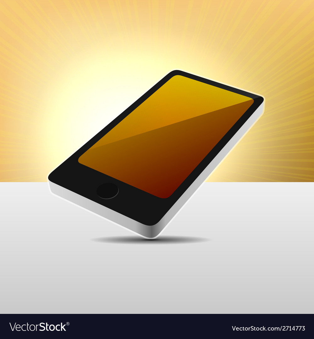 Realistic 3d view modern mobile phone vector | Price: 1 Credit (USD $1)