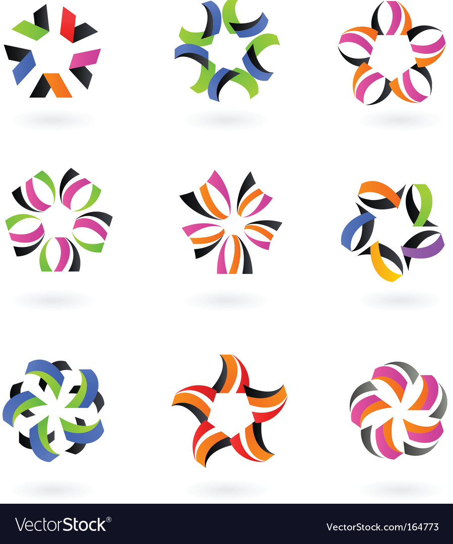 Star icons and logos vector | Price: 1 Credit (USD $1)