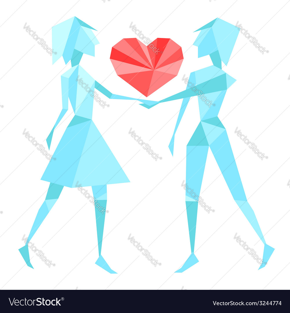 Abstract polygon couple vector | Price: 1 Credit (USD $1)