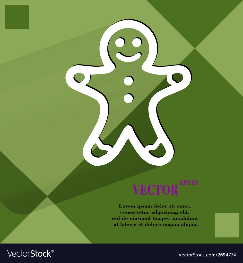 Gingerbread flat modern web button on a flat vector | Price: 1 Credit (USD $1)