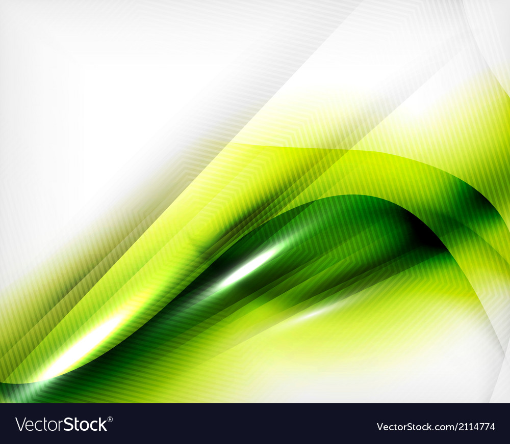 Green summer wave - business eco background vector | Price: 1 Credit (USD $1)