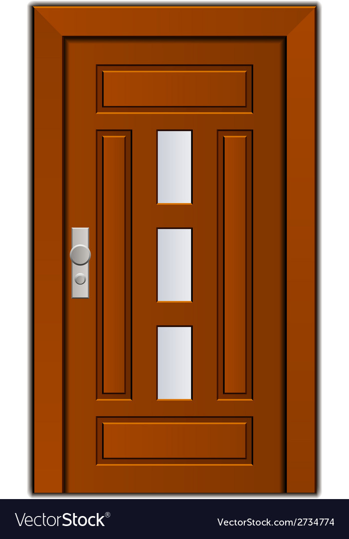 Modern entrance door vector | Price: 1 Credit (USD $1)