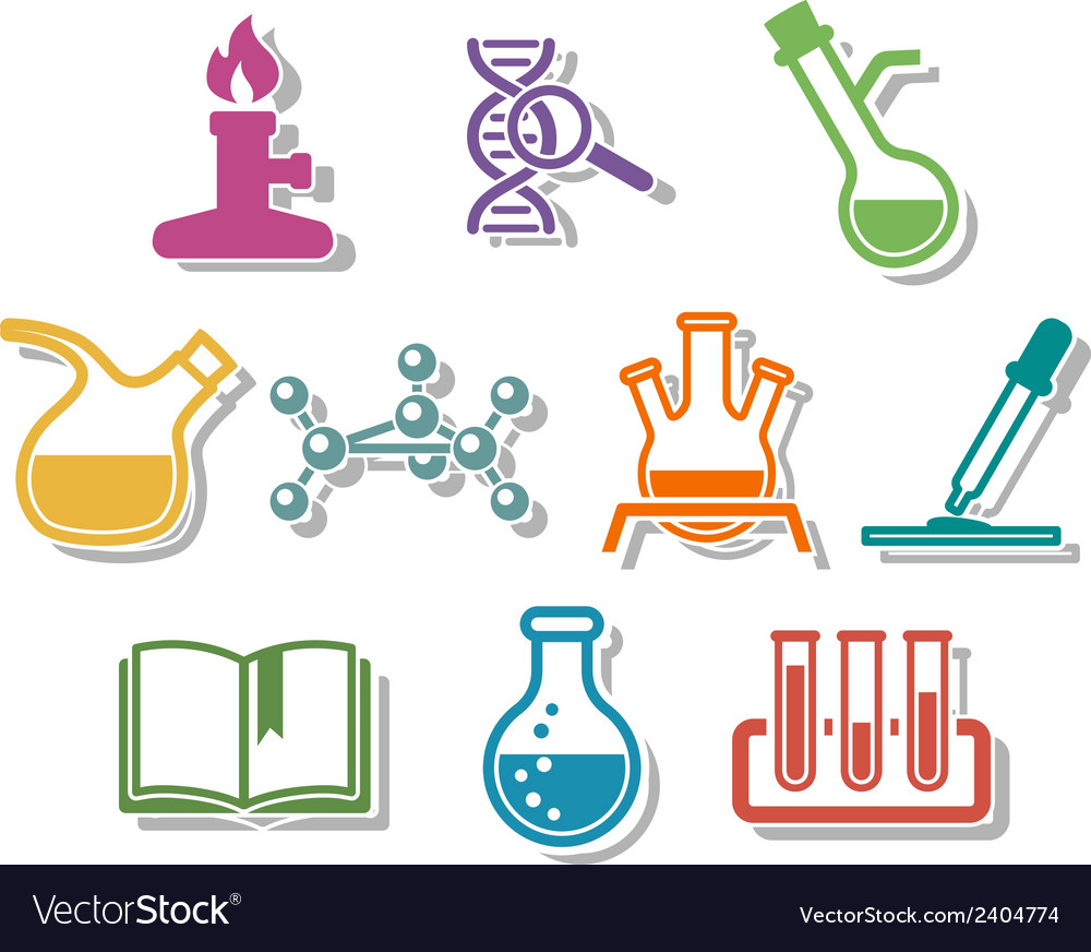 Science and chemistry icon set vector | Price: 1 Credit (USD $1)