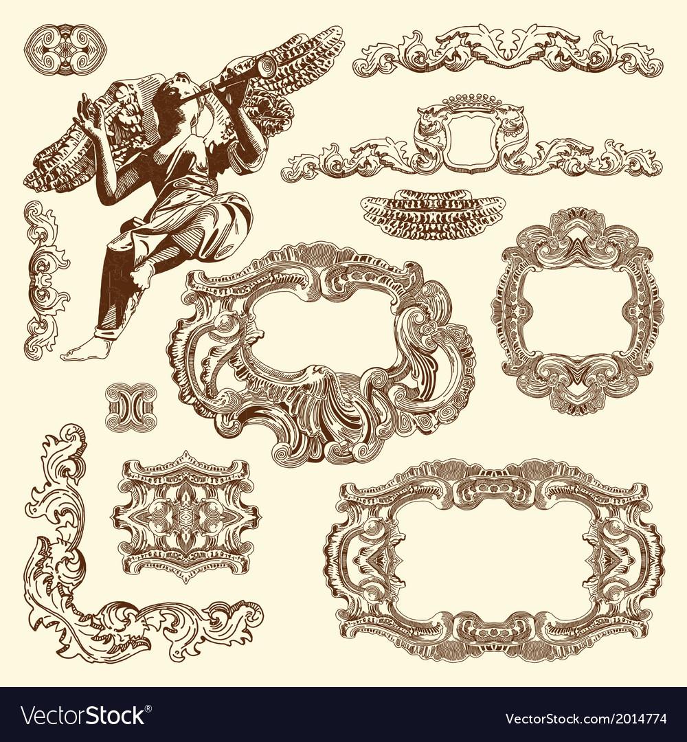Vintage sketch ornamental design element vector | Price: 1 Credit (USD $1)