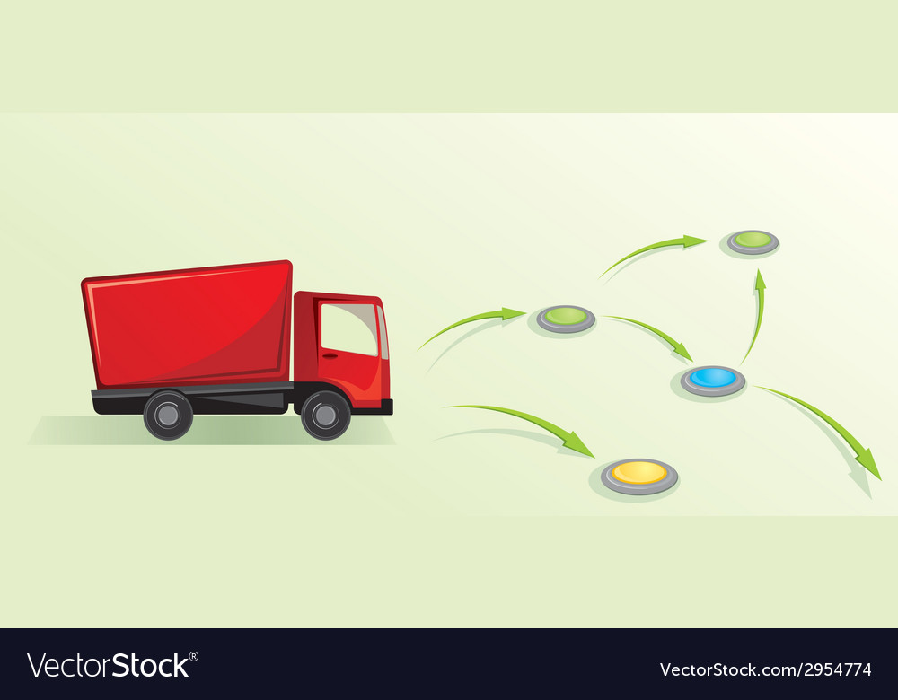 With truck logistic concept vector | Price: 1 Credit (USD $1)