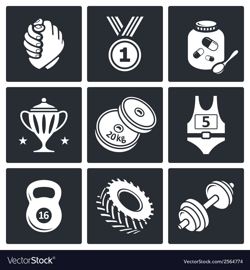Wrestling icon collection vector | Price: 1 Credit (USD $1)