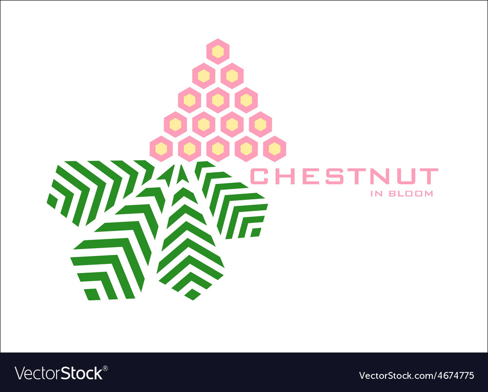 Blooming chestnut logo design template vector | Price: 1 Credit (USD $1)