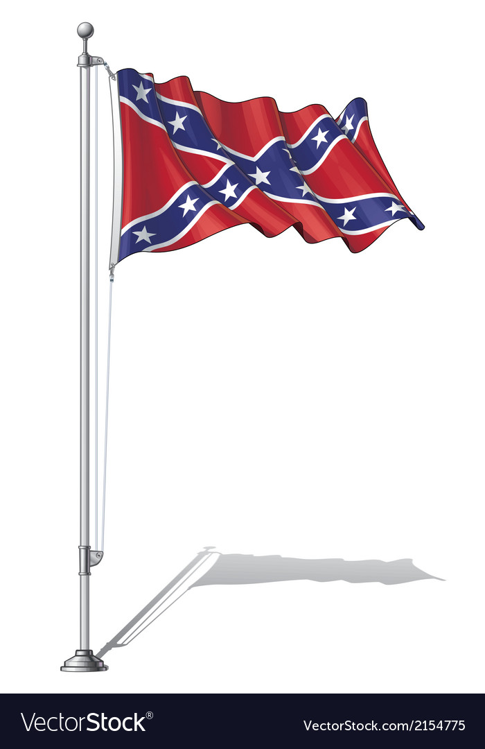 Flag pole confederate rebel vector | Price: 1 Credit (USD $1)