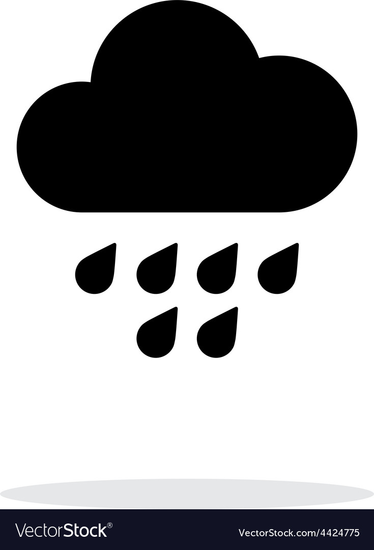 Light rain weather icon on white background vector | Price: 1 Credit (USD $1)