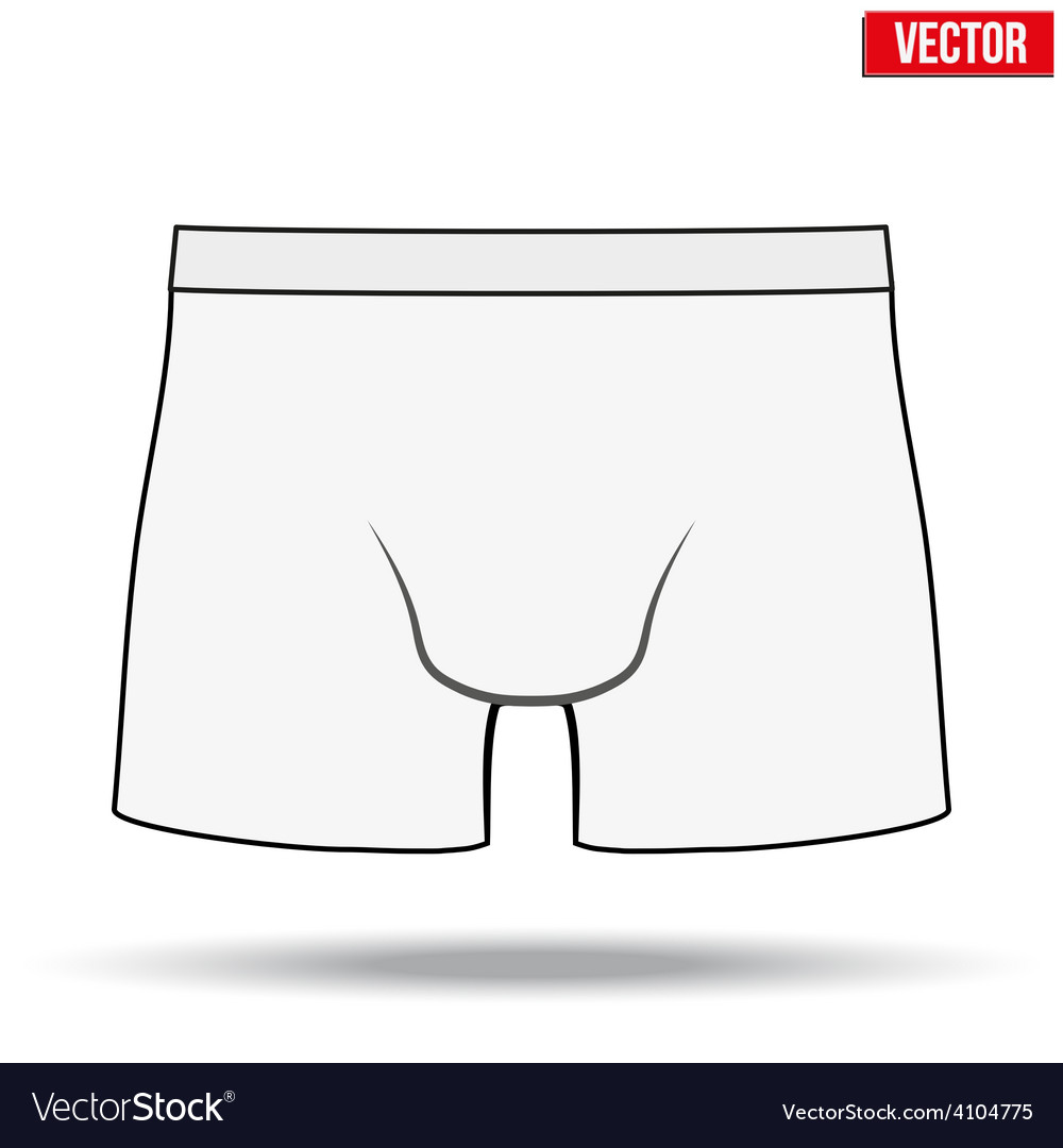 Male white underpants brief vector | Price: 1 Credit (USD $1)