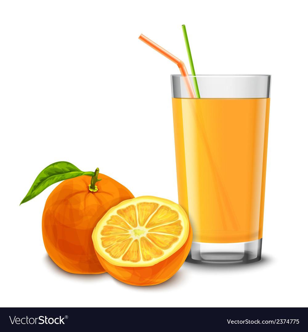 Orange juice glass vector | Price: 1 Credit (USD $1)