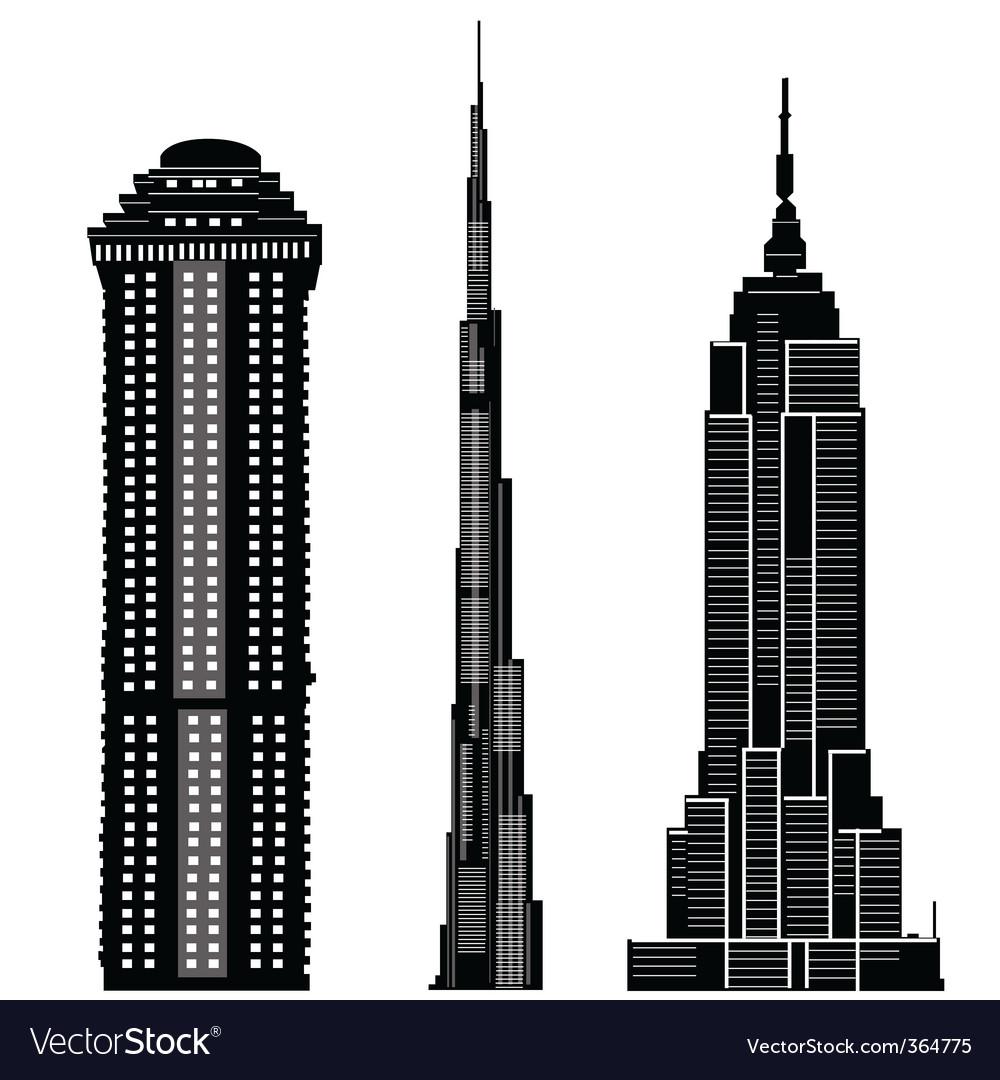 Skyscraper buildings vector | Price: 1 Credit (USD $1)