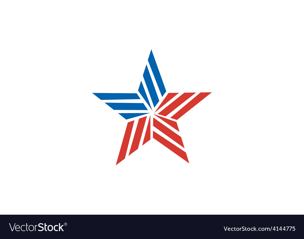Star stripe america logo vector | Price: 1 Credit (USD $1)