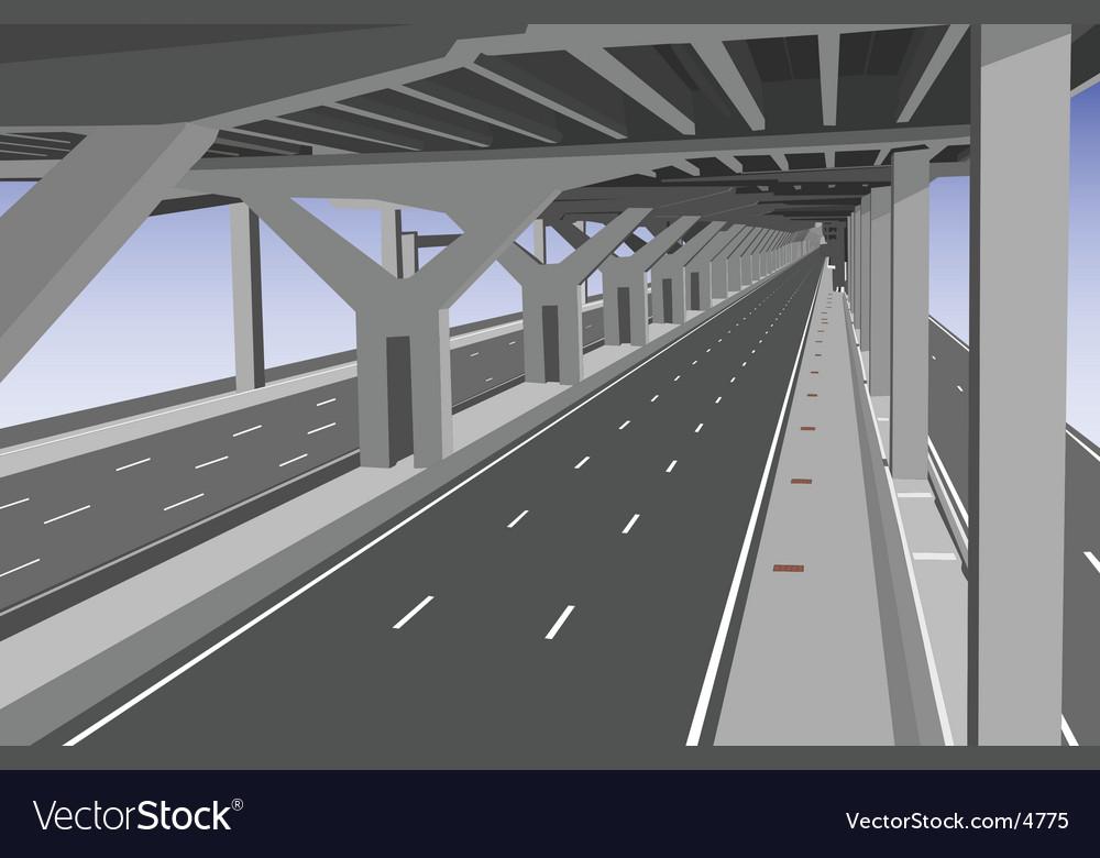 Under the toll way vector | Price: 1 Credit (USD $1)