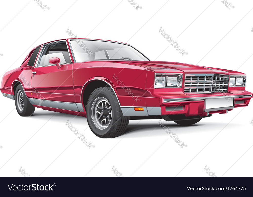 Vintage american coupe vector | Price: 3 Credit (USD $3)
