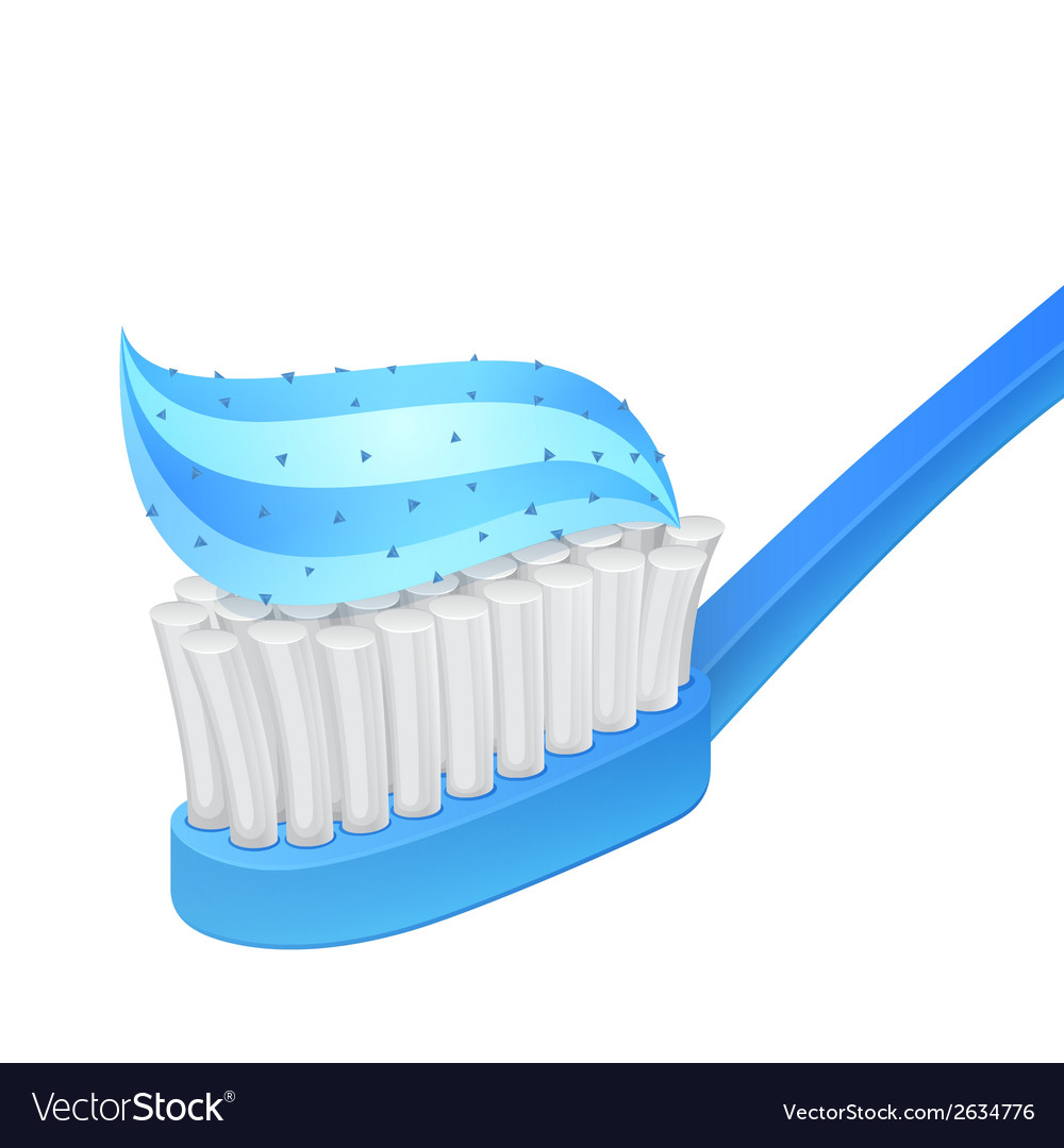 Blue toothbrush and whitening toothpaste vector | Price: 1 Credit (USD $1)