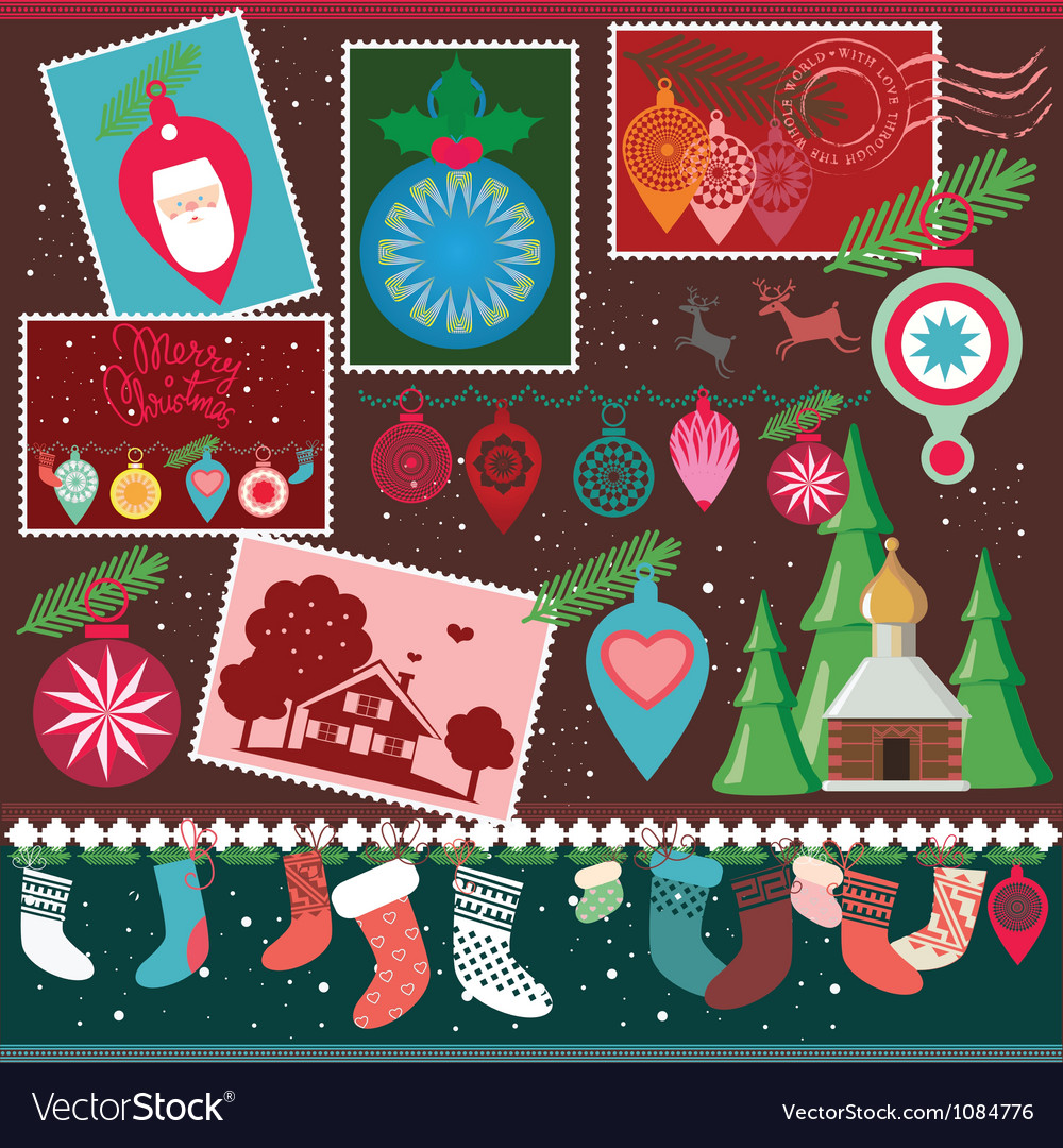 Christmas design collection vector | Price: 3 Credit (USD $3)