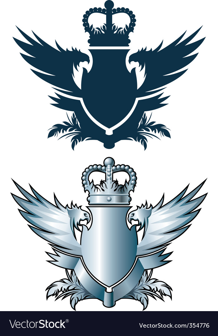 Crown and iron wings vector | Price: 1 Credit (USD $1)