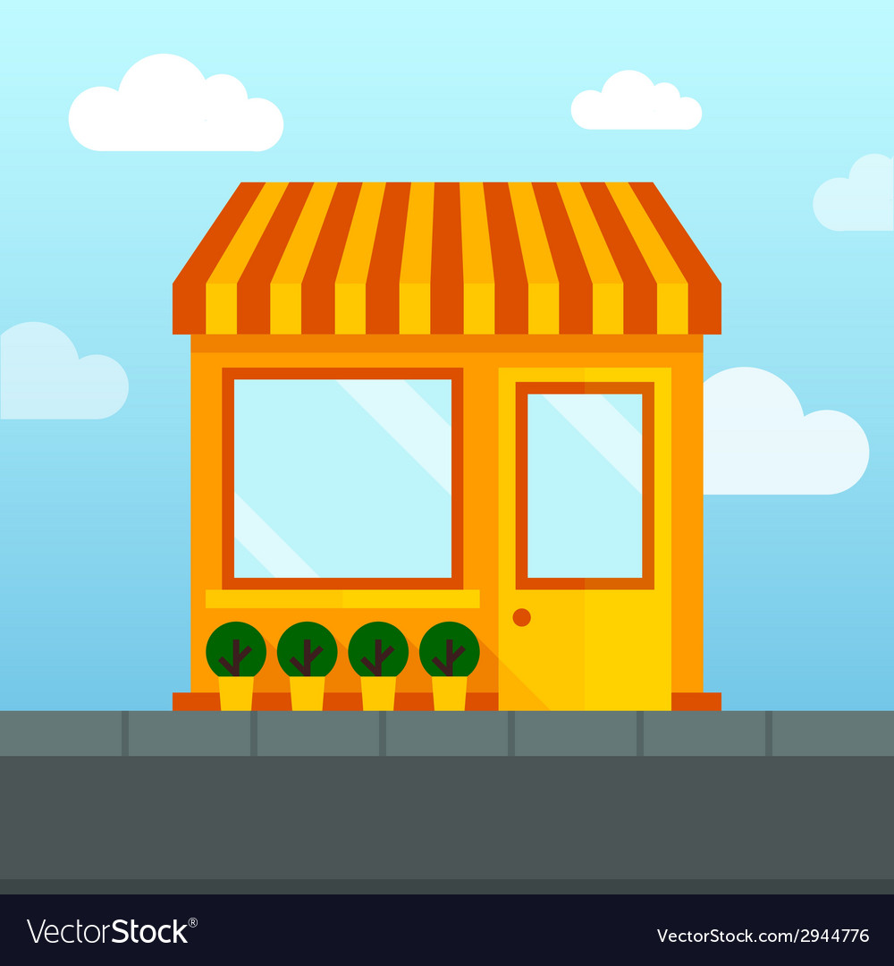 Empty store front vector | Price: 1 Credit (USD $1)