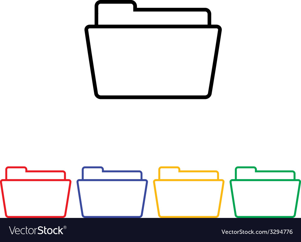 Flat simple folder icon vector | Price: 1 Credit (USD $1)