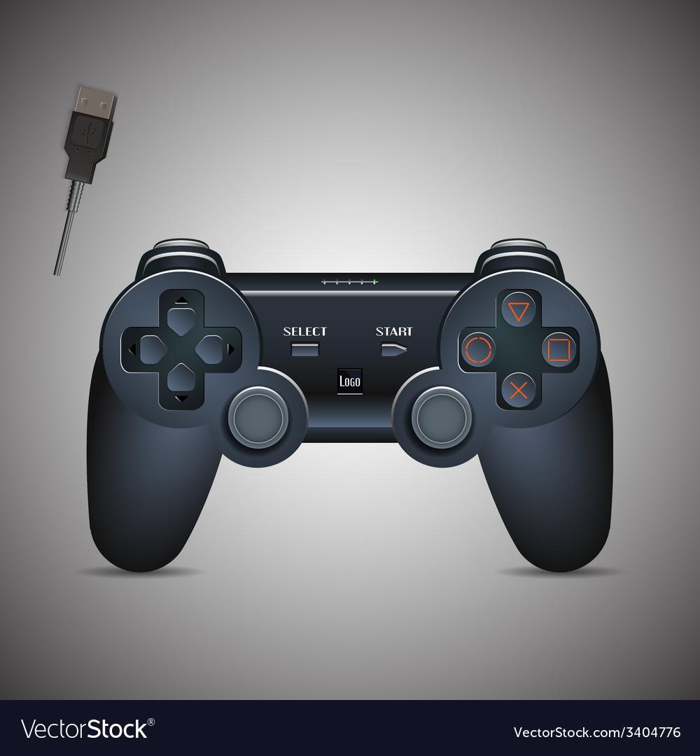 Gamepad joystick joystick game console realistic vector | Price: 3 Credit (USD $3)