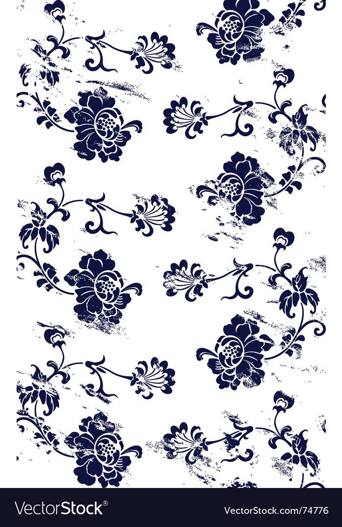 Grunge floral pattern vector | Price: 1 Credit (USD $1)