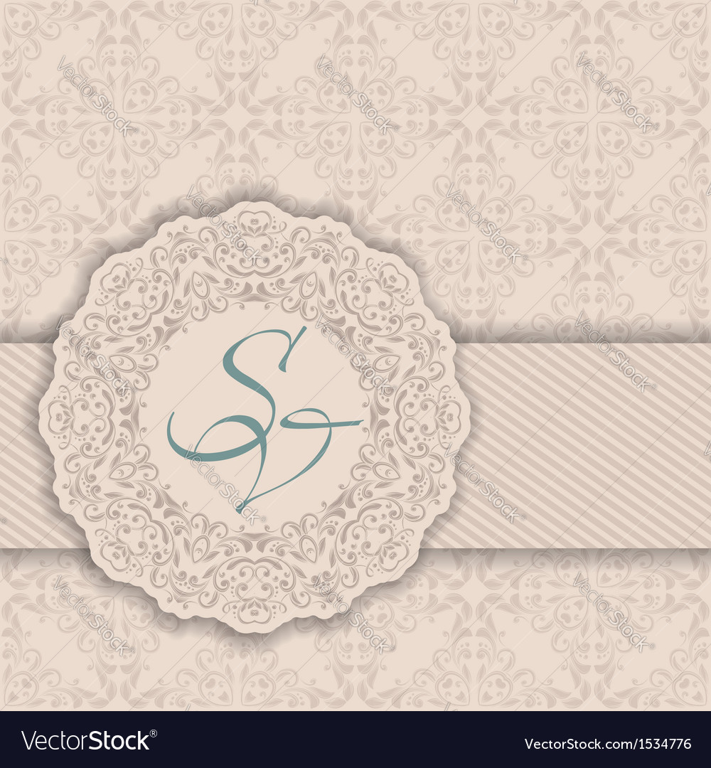 Seamless damask background with a circular pattern vector | Price: 1 Credit (USD $1)