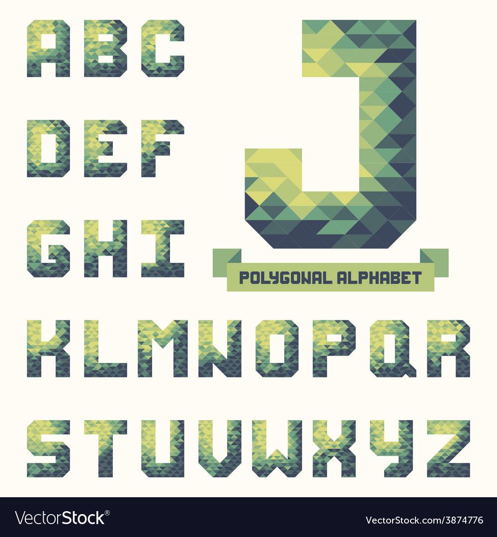 Trendy polygonal triangular alphabet vector | Price: 1 Credit (USD $1)