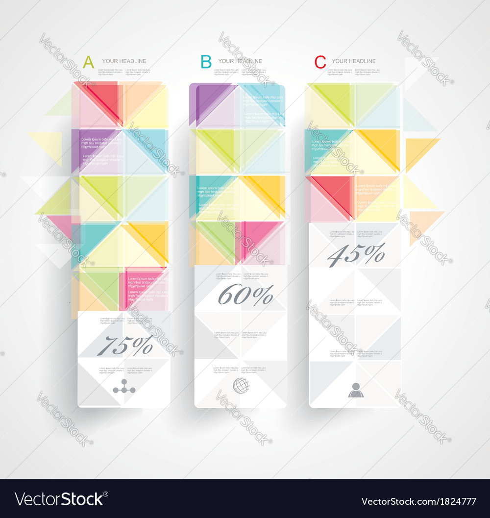 Abstract minimal ifographic design vector | Price: 1 Credit (USD $1)