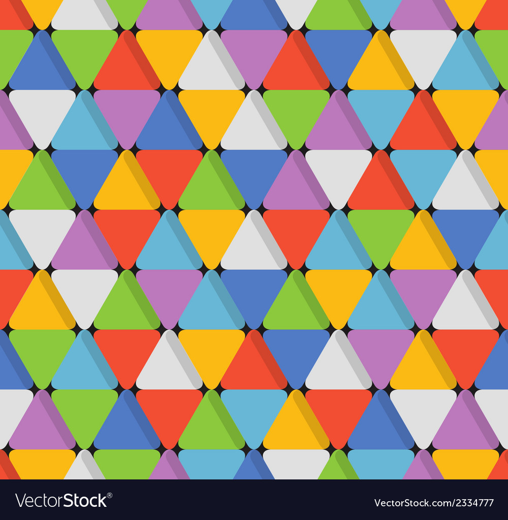 Abstract seamless pattern with color triangles vector | Price: 1 Credit (USD $1)