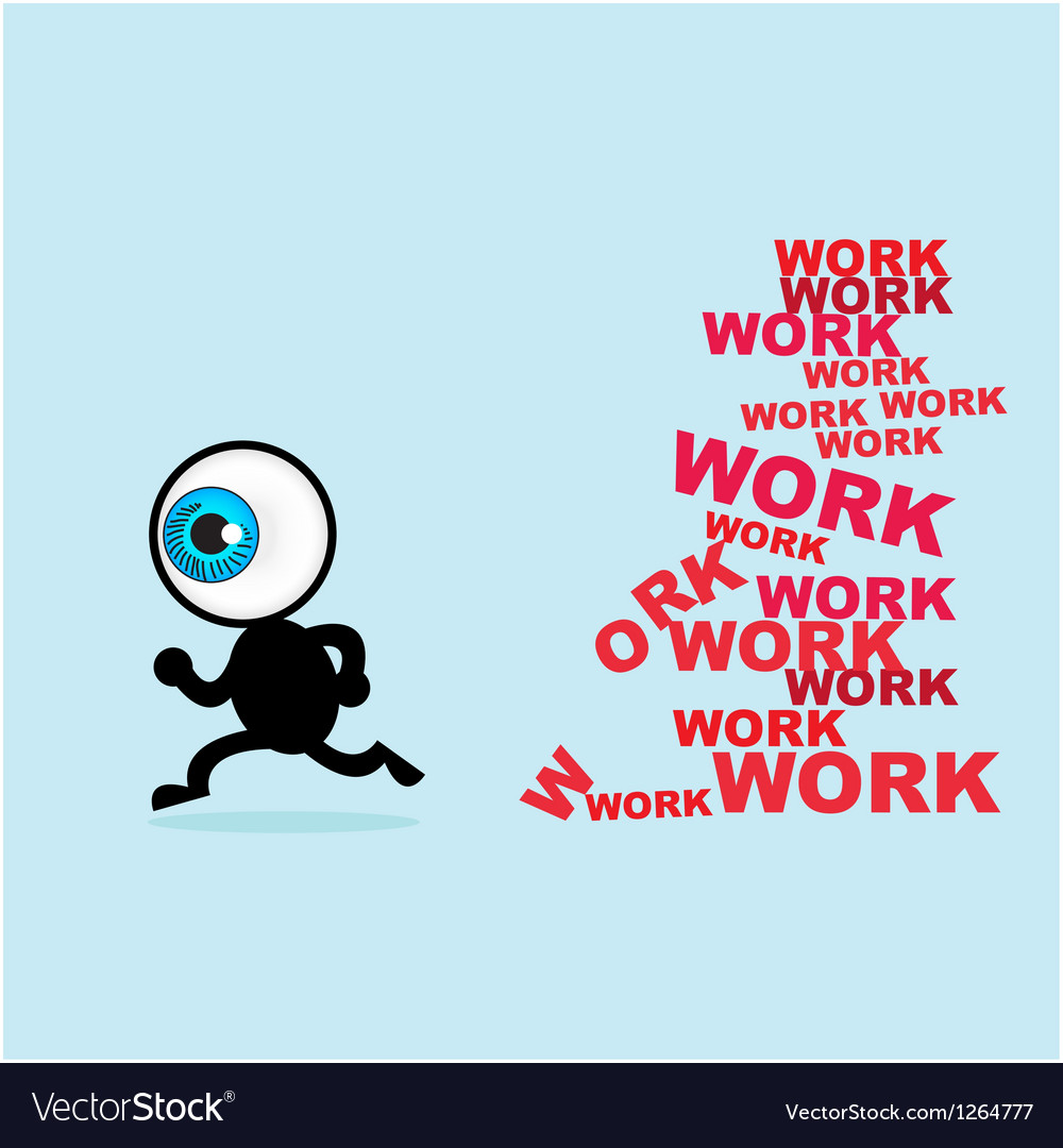 The blue eye escape for many work vector | Price: 1 Credit (USD $1)