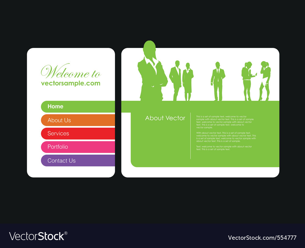 Business website vector | Price: 1 Credit (USD $1)